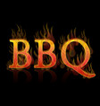 bbq grill text icon vector image