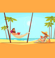 beach reading background vector image