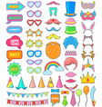 birthday party icon anniversary cartoon vector image vector image