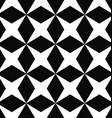 Black white seamless rhombus pattern background vector image vector image