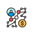 business strategy success way algorithm vector image