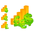 business with money signs vector image
