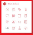 card icons vector image vector image