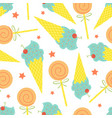 cartoon seamless pattern summer background ice vector image vector image