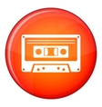 Cassette tape icon flat style vector image vector image