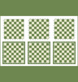 chessboard set chess table background vector image vector image
