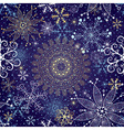 Christmas dark blue seamless pattern vector image vector image