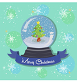 Christmas Tree Snowball Snowflakes vector image vector image