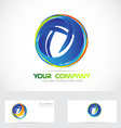 Circle sphere abstract business logo vector image vector image
