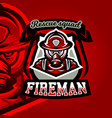 colorful logo emblem a sticker a firefighter in vector image