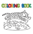 Coloring book of little cheetah or jaguar vector image vector image