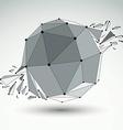 dimensional wireframe object spherical demolished vector image vector image