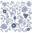 Doodles design elements vector image vector image