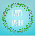 easter greeting card floral frame vector image