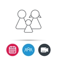 Family icon Male female and child sign vector image vector image