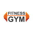 fitness gym logo sign bodybuilding club vector image vector image