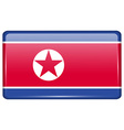 Flags Korea North in the form of a magnet on vector image vector image