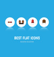flat icon technology set of triode recipient vector image vector image