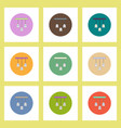 flat icons halloween set ghost party decoration of vector image vector image