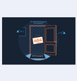 flat line icon concept 404 error page or file vector image