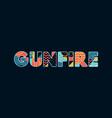 gunfire concept word art vector image vector image