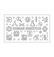 human genetics minimal banner in outline vector image vector image