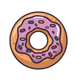 isolated cute doughnut vector image