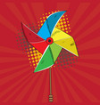 isolated wind toy vector image