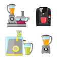kitchen electrical equipment set for cooking vector image vector image