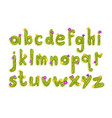 latin alphabet made green cactus with blooming vector image