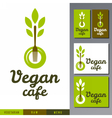logo for vegan cafe menu vector image vector image