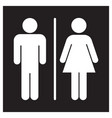 male and female bathroom sign icon vector image vector image