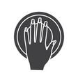 manicure bowl glyph icon vector image vector image
