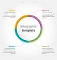 modern infographic with 4 options circle template vector image vector image