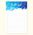 notes to do list daily planner template vector image vector image