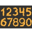 Orange cutting Numbers vector image