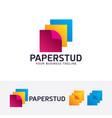 paper studio logo design vector image