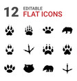 paw icons vector image vector image