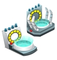 Portal teleportation two images isolated vector image vector image