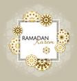 ramadan kareem poster design with 3d paper cut vector image