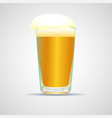 realistic glass of beer vector image