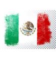 retro grunge flag mexico vector image