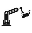 robot exhaust car factory icon simple style