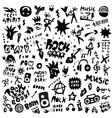 rock music - graphic icon set design elements vector image vector image