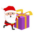 santa claus icon christmas holiday funny vector image
