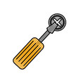screwdriver tool with screw vector image vector image