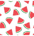 seamless pattern watermelon slices vector image vector image