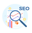 seo analysis flat concept of vector image vector image