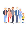 set of different caucasian couples and families vector image vector image