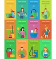 Set of House Cleaning Banners vector image vector image